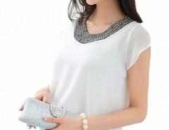 1b7281f65e9cb blusas elegantes blancas