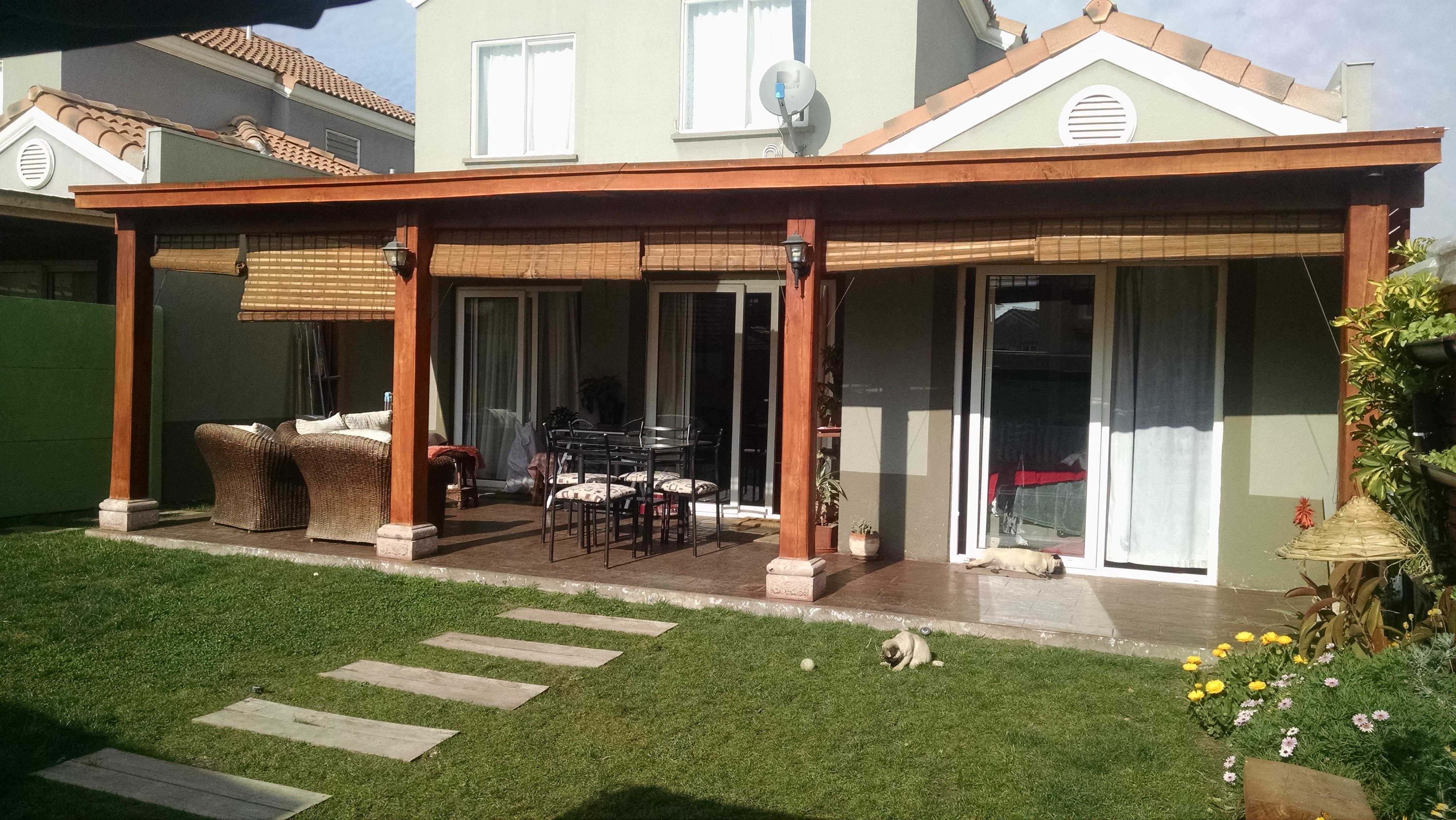 Pergolas parron cobertizos techos terrazas for Easy terrazas chile