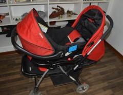 5dc7924b5 COCHE INFANTI TRAVEL SYSTEM COLOR ROSADOGRIS CON BASE PARA EL AUTO ...