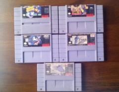 Pack De 5 Juegos Super Nintendo Snes segunda mano  Chile