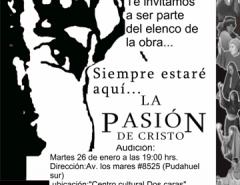 """Audicion Obra teatral """"La pasion de Cristo"""" 26/01/16 segunda mano  Chile"""