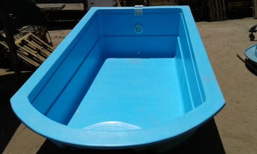 Piscina de fibra de vidrio modelo rectangular 6 3 for Modelos de piscinas de fibra de vidrio