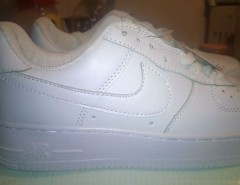 Vendo zapatillas  nike air force one blancas totalmente nuev segunda mano  Chile