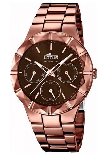 638e43cd0f55 Eshops Chile - Reloj 18101 2 Marrón Lotus Mujer Trendy Lotus