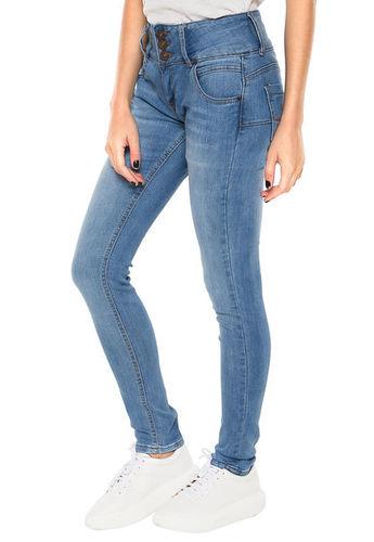 1e6a9df9b6 Eshops Chile - Jeans Pretina Ancha Azul Claro Wados - Calce Regular