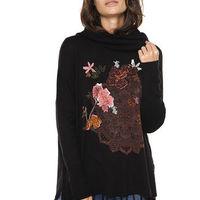 Sweater Clara Negro Desigual - Calce Oversize