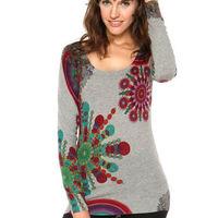 89f335d6d086 Sweater She Gris Desigual - Calce Ajustado